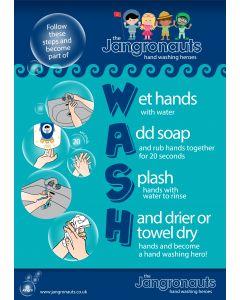 Jangronauts Hand Wash Chart (A4)